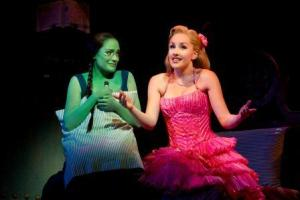 """Christine Dwyer and Jenna de Waal in a scene from """"Wicked."""" Photo by Joan Marcus"""