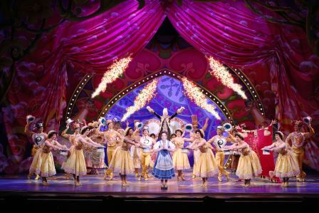 Hilary Maiberger as Belle and the cast of Disney's Beauty and the Beast.  Photo by Joan Marcus