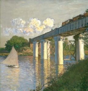 Claude Monet - Railroad Bridge, Argenteuil