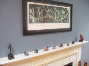 Fireplace Assemble! Art: 'The Avengers,' Alex Ross Various Avengers figures