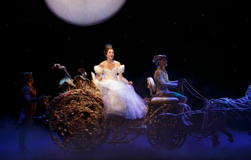 Paige Faure and members of the Cinderella Broadway company.  Photo by Carol Rosegg.