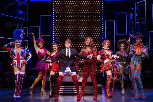 Steven Booth and Darius Harper (center) star in the KINKY BOOTS NATIONAL TOUR. Photo by Matthew Murphy